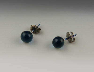 Simple Globe Titanium Post Earrings