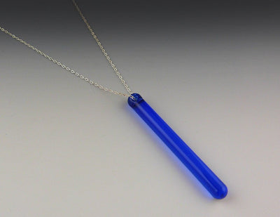 Barre Vertical Necklace, Sapphire