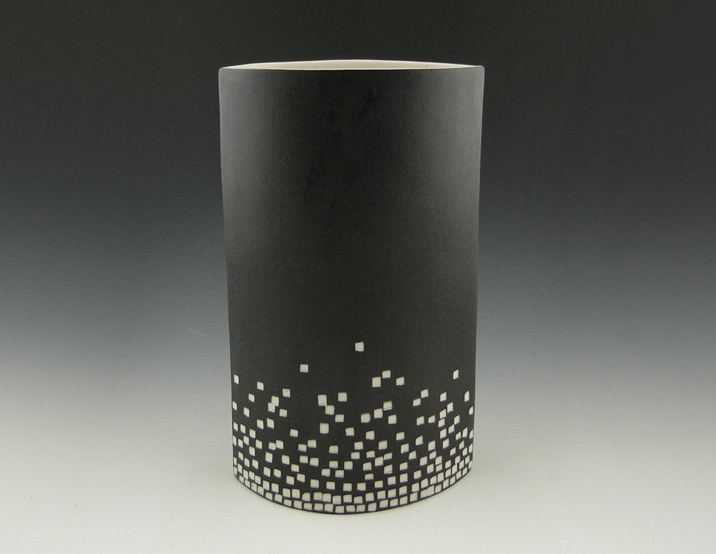 City Lights Vase, side view