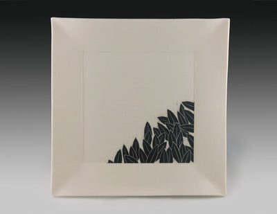 Leaves square plate