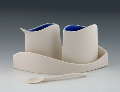 Blue Wave Sugar and Creamer set view 2