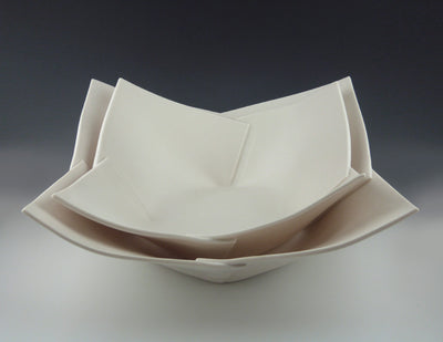 Folded Bowls, medium nesting in large