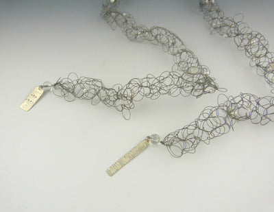 Encoded Lariat Necklace, view of ends