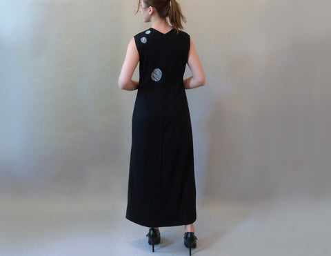 Black Pebble Dress on model back view