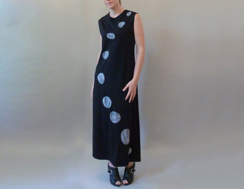 Black Pebble Dress on model