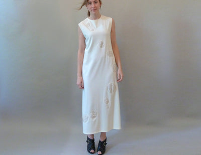 Cream Pebble Dress on model