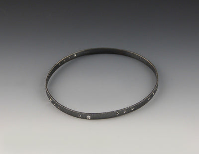 Encoded Bangle, oxidized