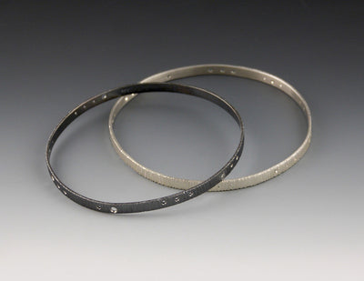 Encoded Bangle oxidized and bright