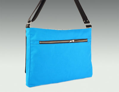 Modern Messenger Bag turquoise body, back