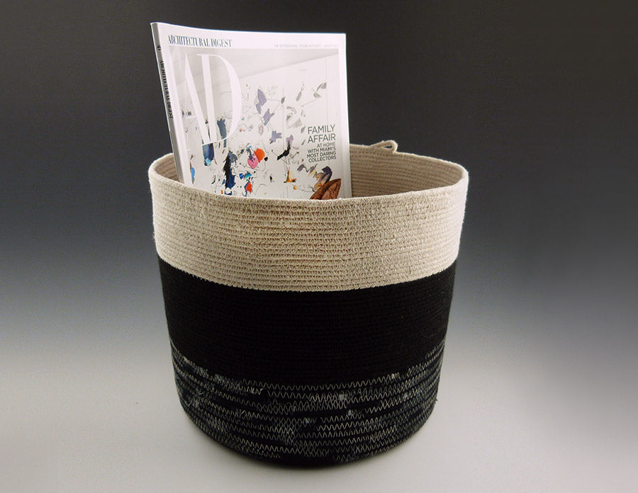 Medium Rope Bucket with magazines