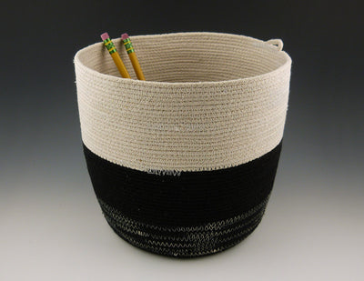 Small Rope Bucket with pencils