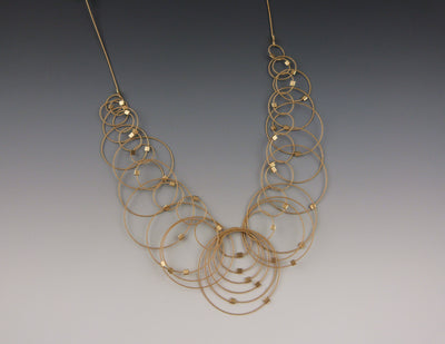 Dew Necklace, Gold/Gold