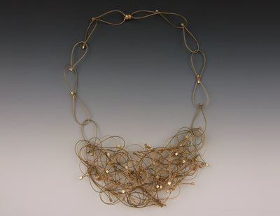 Nest Necklace, Gold/Gold