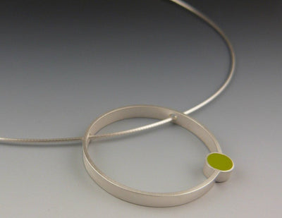 Circle Necklace, Close-up View