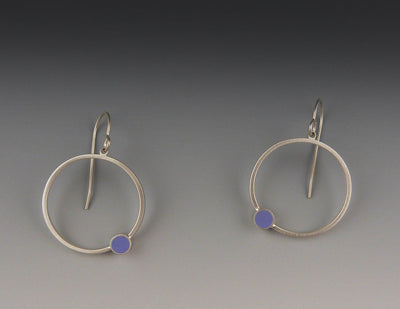 Circle Earrings, Violet