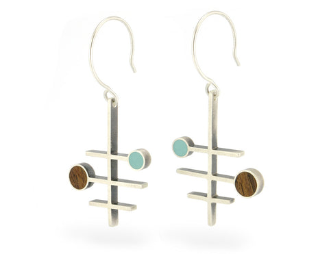 Frequency earrings, turquoise