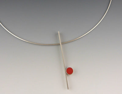 Line Necklace, Red