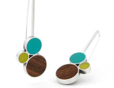 Node Drop Earrings, Summer
