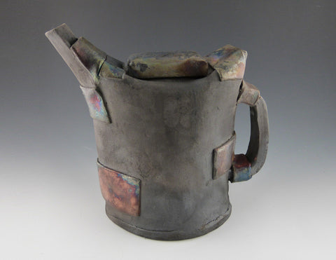 Raku Strapped Tea Kettle--Slim, side 2
