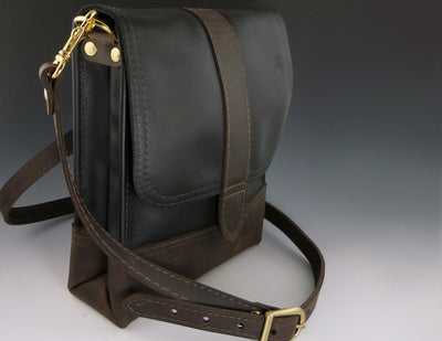 Scout Crossbody Black with brown base and strap