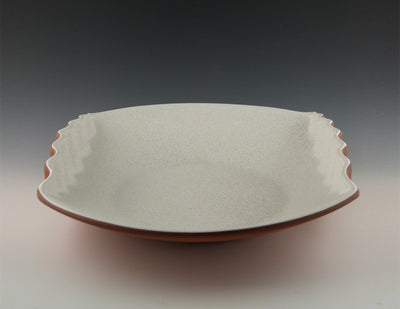 Corrugated Bowl white side view