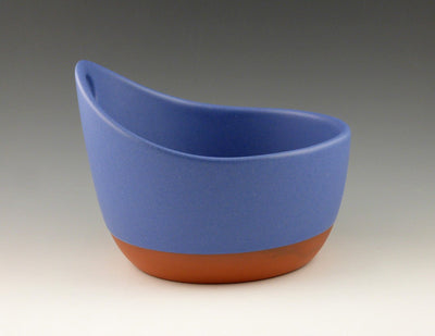 Handled Soup Bowl, blue