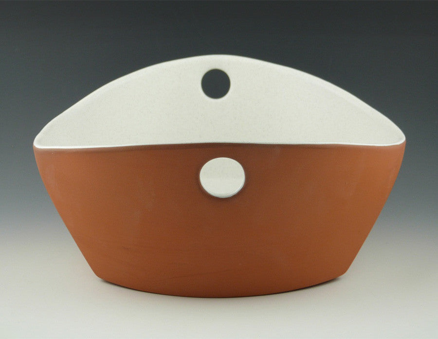 Handled Serving Bowl end view