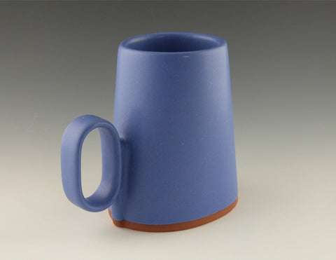 Oval Cup blue handle view