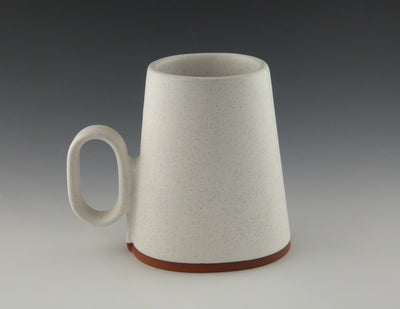 Oval Cup white side view