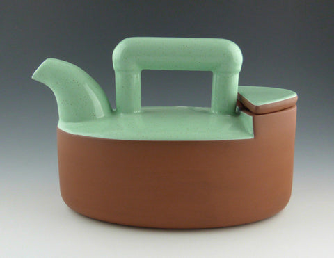 Oval Teapot, side view