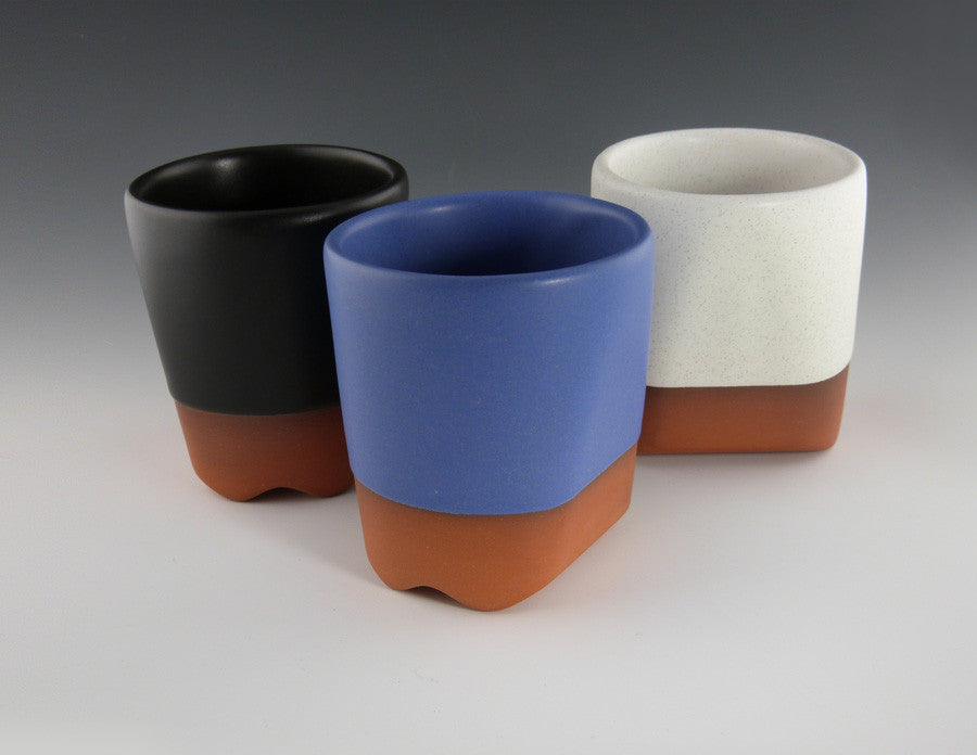 Ripple Cups black, blue, white