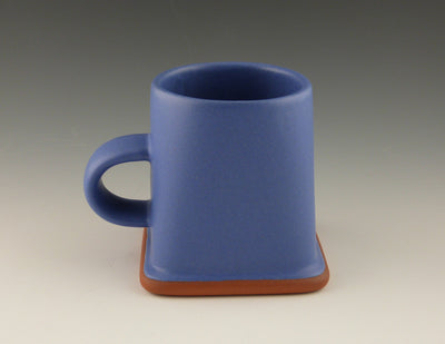 Square Cup copen blue side view