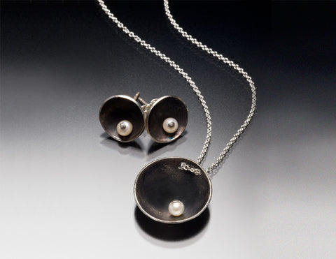Satellite studs and pendant set