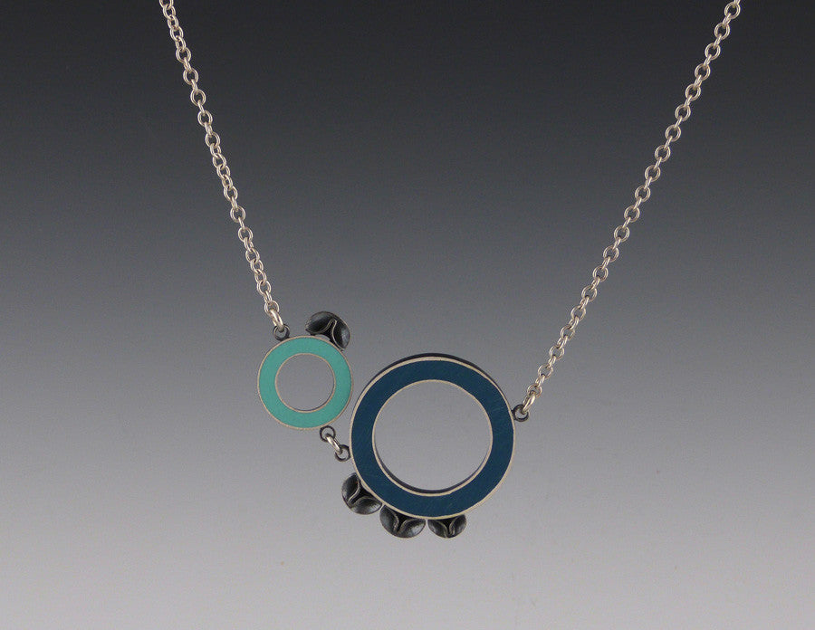 2-Circle Long Chain Necklace
