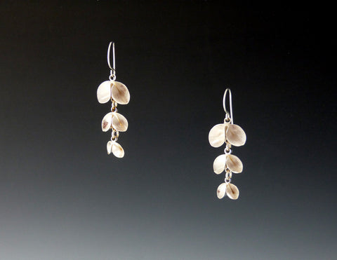 Tri-Leaf Dangle Earrings, bright