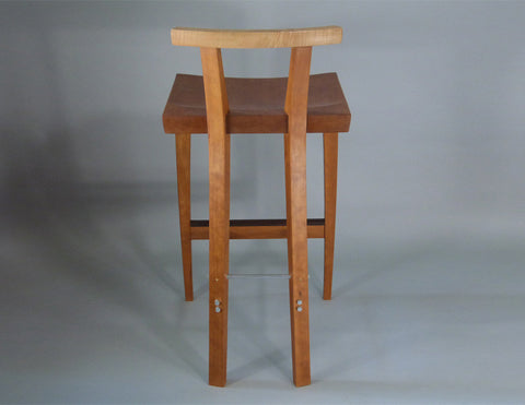 Counter stool back view