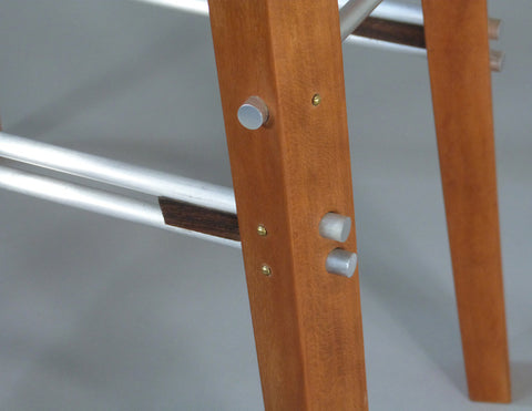 Counter stool leg detail view