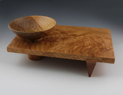 Walnut bowl side two