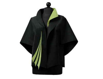 Fan jacket, lime green
