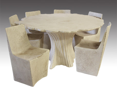 Perennial Cypress table shown with Stone dining chairs