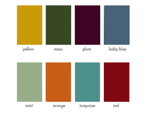 O Table color choices