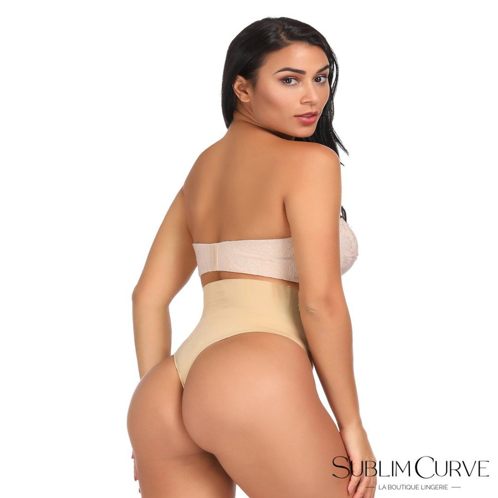 string gainant-string amincissant-gaine string-beige-fesses mises en avant