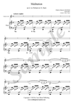 C.F. Gounod, Ave Maria, sheet music for clarinet and piano