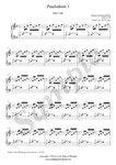 Bach, Prelude in C Major, piano sheet music