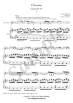 A. Vivaldi, Largo from Winter Concerto, alto saxophone and piano sheet music
