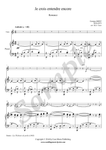 G. Bizet, Je crois entendre encore, violin and piano sheet music