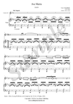 F. Schubert, Ave Maria, Clarinet and Piano sheet music