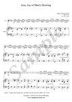 Bach, Jesu Joy of Man's Desiring, violin and piano sheet music