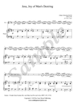 J.S. Bach, Jesu, Joy of Man's Desiring, Flute and Piano sheet music