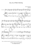J.S. Bach, Jesu, Joy of Man's Desiring, Soprano Recorder and Piano sheet music